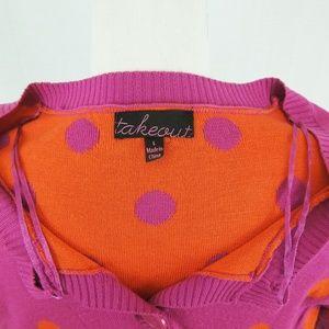 Colorful Polka Dot Cardigan Sweater